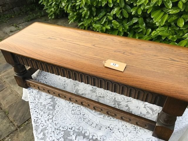Lot 13 - Small Rectangular Wooden Oak Occasional Table - £20 to £30