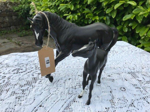 Lot 19 - Beswick Black Beauty & Foal - £20 to £30