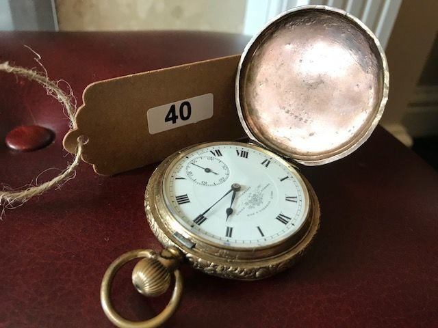 Lot 40 - Gold Plated Hunters Pocket Watch - £30 to £40