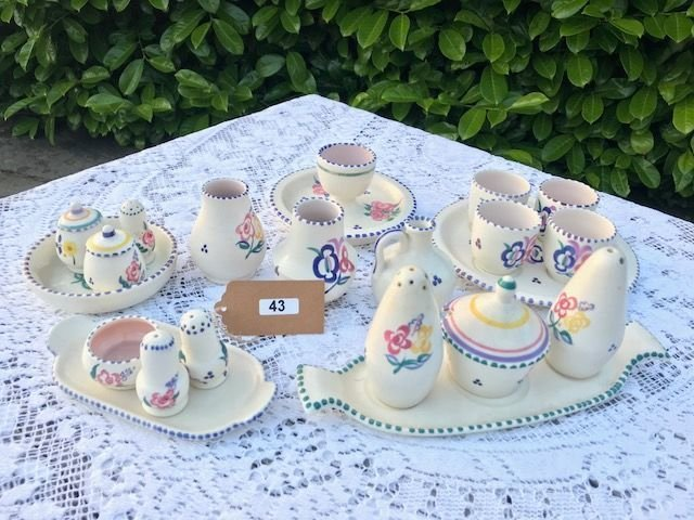 Lcot 43 - Poole Pottery Set of Miniatures, Vases & Egg Cups - £30 to £40