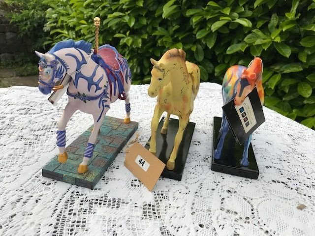 Lot 44 - Set of 3 Painted Ponies Figures - £30 to £40