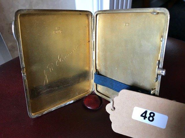Lot 48 - Silver Cigarette Case Chester 1927 - £70 to £80