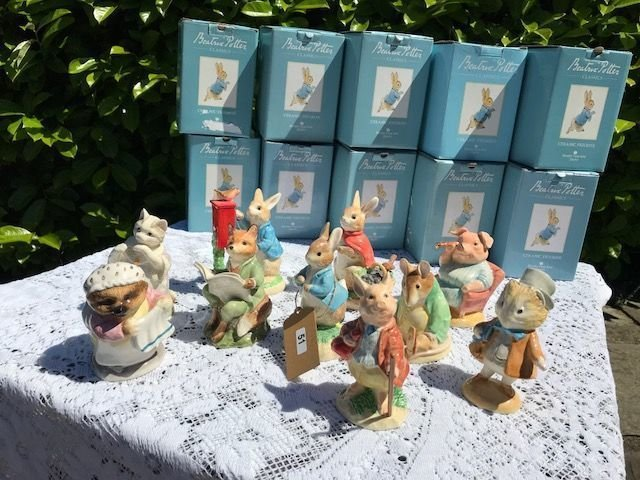 Lot 51 - Collection of Boxed Beatrix Potter Figures - £30 to £40