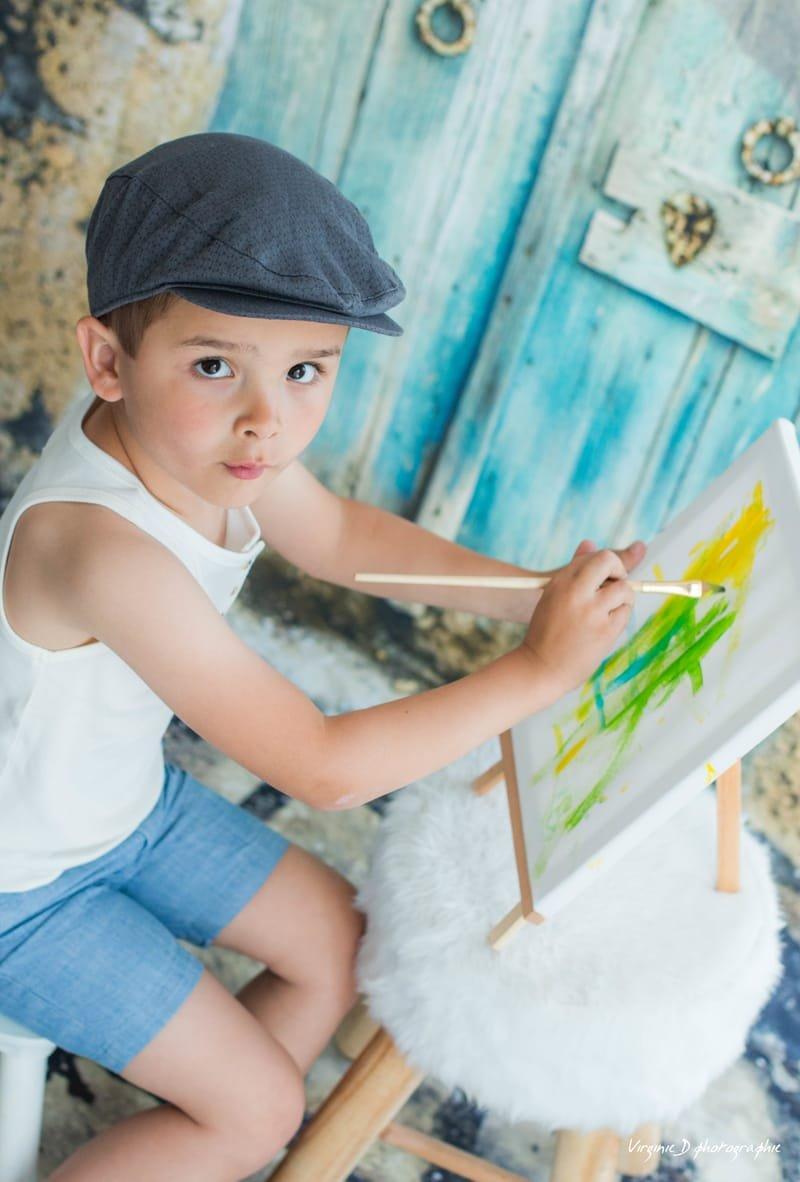 Portrait leo peinture