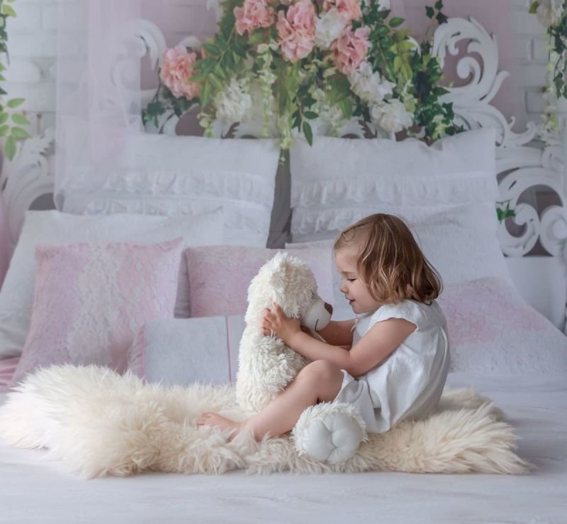 Fleurine et son ours