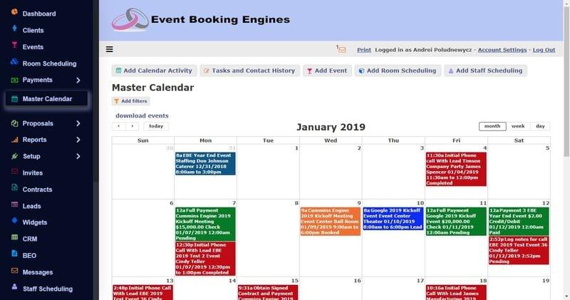 Master Calendar
