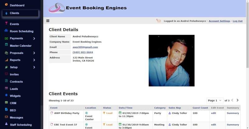 Client Details and Client Events