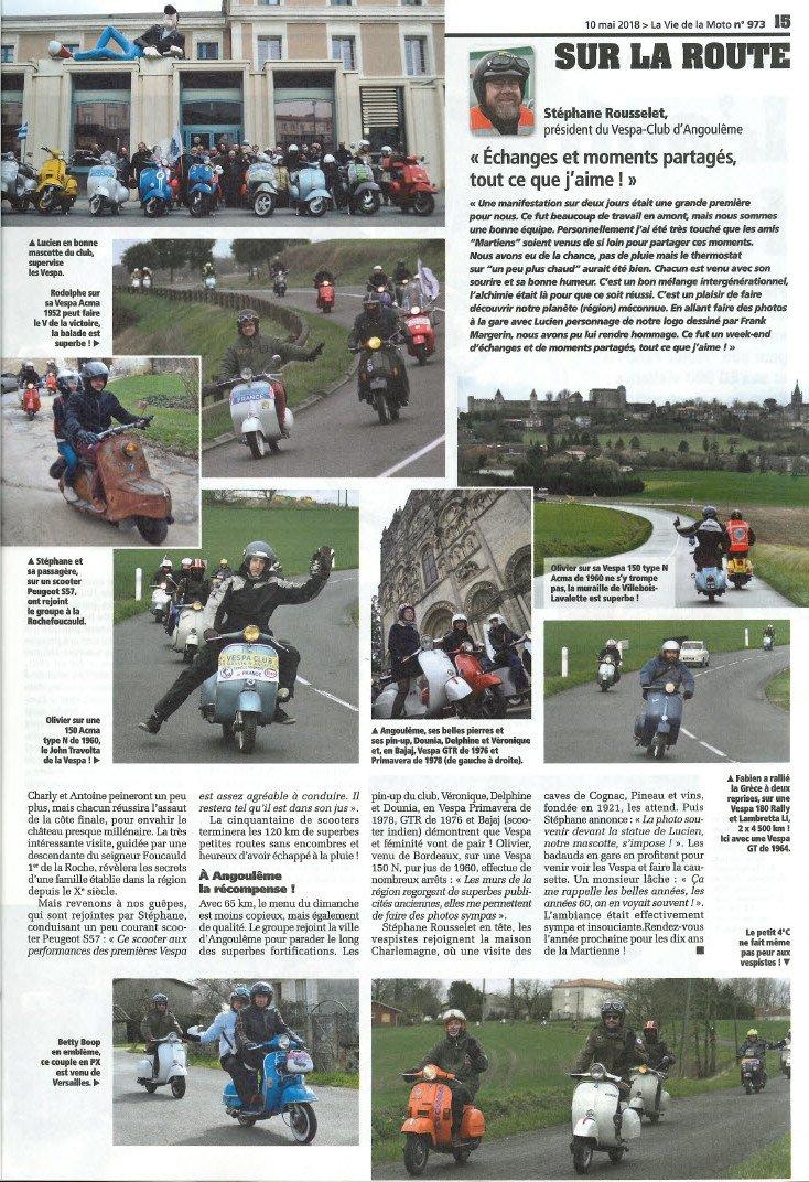 La sortie Les Martiens (source la vie de la moto)