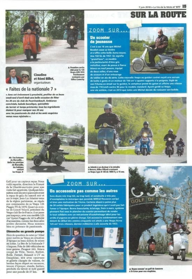Les 20 ans du club de Fourchambault (source la vie de la moto)