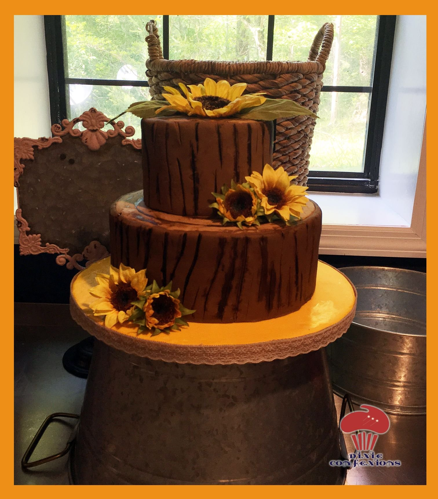 Tree Stump Wedding Cake - Dixie Confexions
