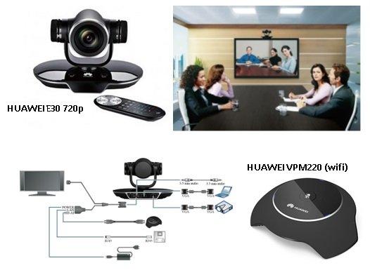 Kit Equipamento Videoconferência Huawei TE30 + Microfone sem fios VPM220