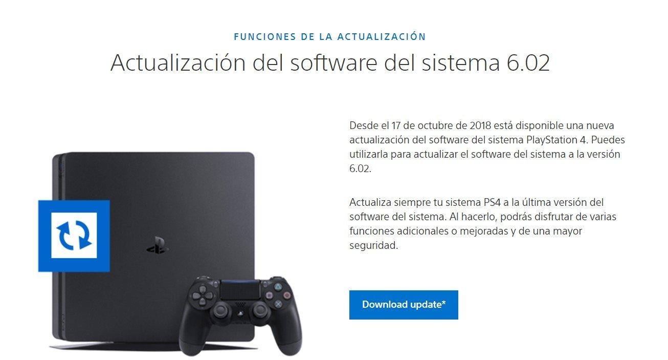 descargar software ps4 ultima version