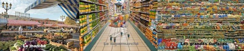 Les magasins d'alimentation ...