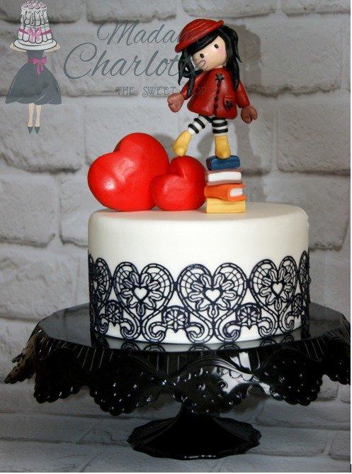θεματική τουρτα γενεθλίων απο ζαχαροπαστα gorjuss, Ζαχαροπλαστείο καλαμάτα madamecharlotte.gr, birthday theme party cakes 2d 3d confectionery patisserie kalamata