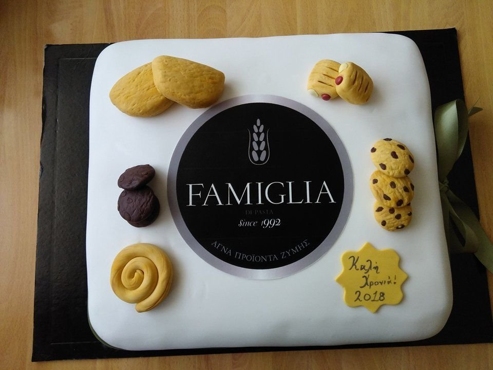 βασιλόπιτα απο ζαχαρόπαστα εταιρίας famiglia, Ζαχαροπλαστείο καλαμάτα madamecharlotte.gr, birthday cakes 2d 3d confectionery patisserie kalamata