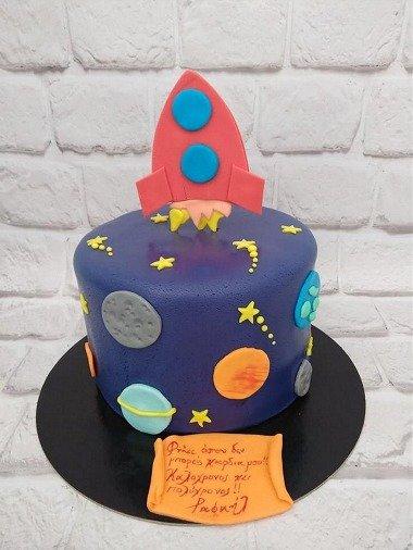 τούρτα από ζαχαρόπαστα rocket ζαχαροπλαστείο καλαμάτας madame charlotte, birthday cakes 2d 3d confectionery patisserie kalamata