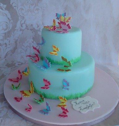 τούρτα απο ζαχαρόπαστα πεταλούδες Ζαχαροπλαστειο καλαματα madame charlotte, birthday cakes 2d 3d confectionery patisserie kalamata