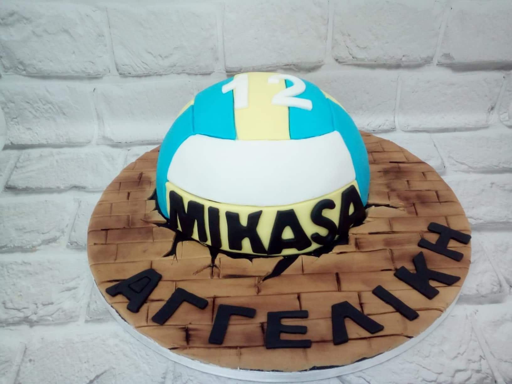 τούρτα απο ζαχαρόπαστα βολεϊ, Ζαχαροπλαστείο καλαμάτα madamecharlotte.gr, birthday theme cake 2d 3d confectionery patisserie kalamata