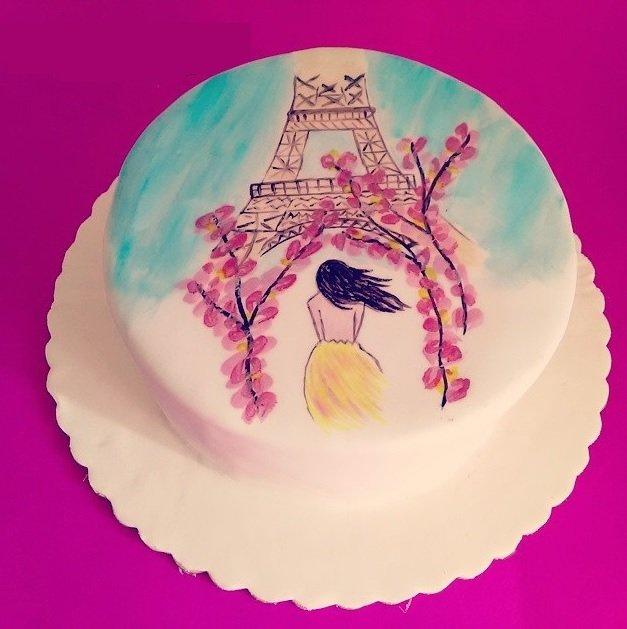 τούρτα από ζαχαρόπαστα ζωγραφισμένη στο χέρι girl in paris, Ζαχαροπλαστείο καλαμάτα madamecharlotte.gr, τούρτες γεννεθλίων γάμου βάπτησης παιδικές θεματικές birthday theme party cake 2d 3d confectionery patisserie kalamata