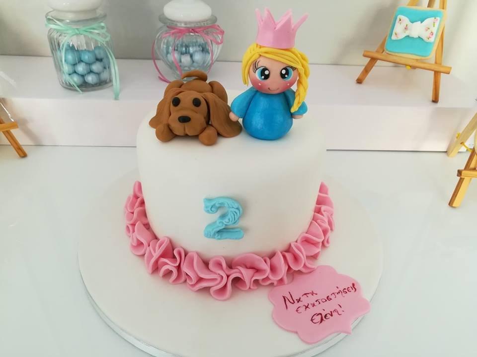 παιδική τούρτα γενεθλίων από ζαχαρόπαστα πριγκιπισσα little princess and pappy, Ζαχαροπλαστειο καλαματα madame charlotte, τουρτες παιδικες γενεθλιων madamecharlotte.gr birthday cakes kalamata
