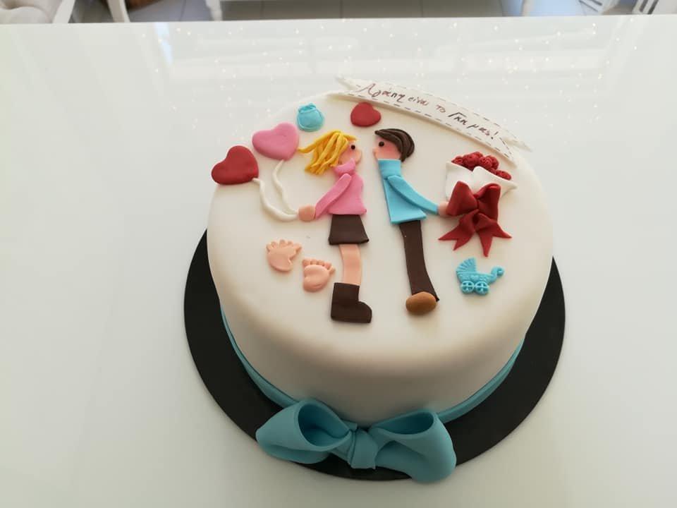 τούρτα από ζαχαρόπαστα lovely couple, Ζαχαροπλαστείο καλαμάτα madame charlotte, τούρτες γεννεθλίων γάμου βάπτησης παιδικές θεματικές birthday theme party cake 2d 3d confectionery patisserie kalamata