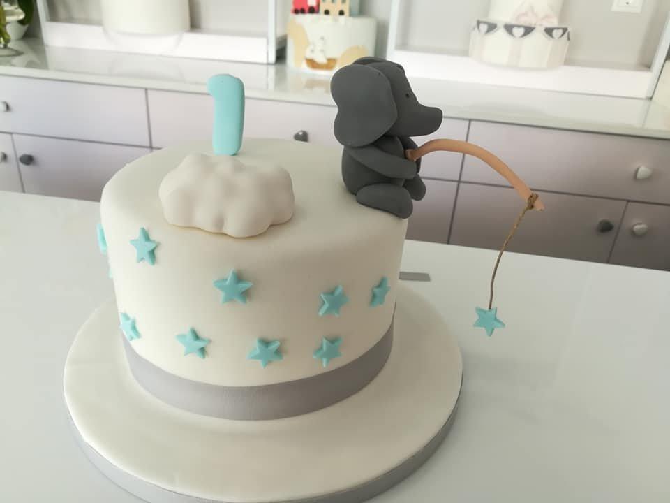 τούρτα από ζαχαρόπαστα sweet elephant ελεφαντάκι, Ζαχαροπλαστείο καλαμάτα madame charlotte, τουρτες παρτι παιδικες γενεθλιων madamecharlotte.gr birthday cakes kalamata