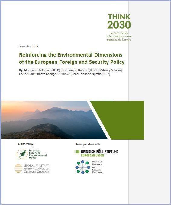 Reinforcing Environmental Dimensions of European Foreign and Security Policy