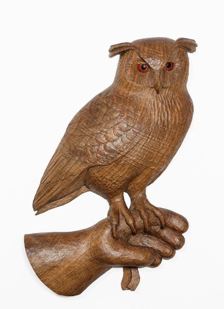 Eagle owl on glove