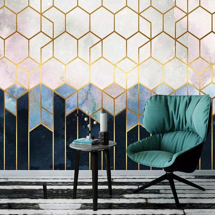Luxe Living Line Modern Designs Mural Digital Printing Vinyl