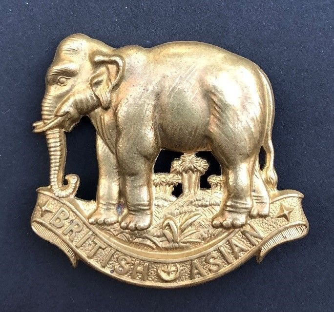British Asian Squadron Headdress Badge - Original