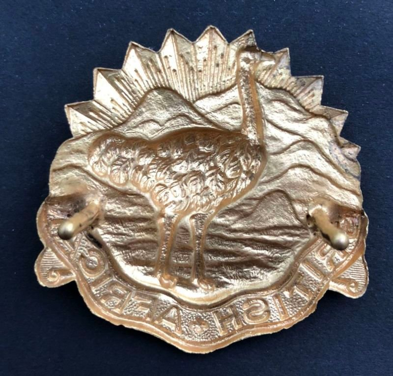British African Officer's Headdress Badge - Genuine