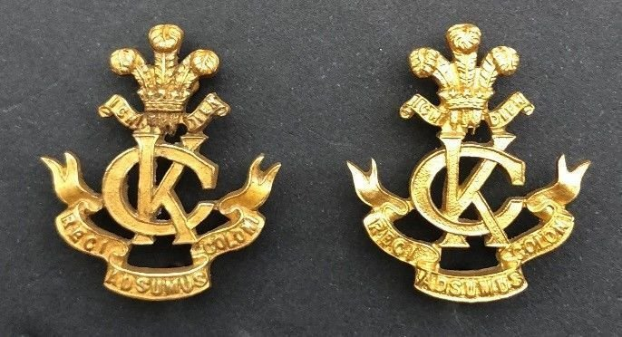 Second Pattern Regimental Officer's Collar Badges