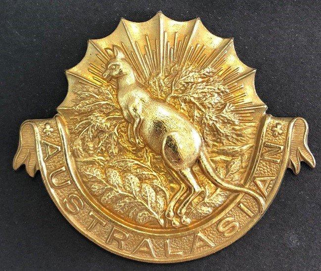 Australasian Squadron Other Ranks' Headdress Badge - Genuine