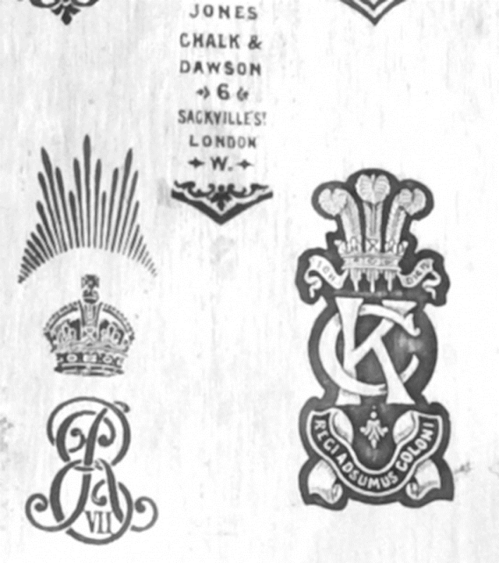 Regimental Badge Devices on Swords