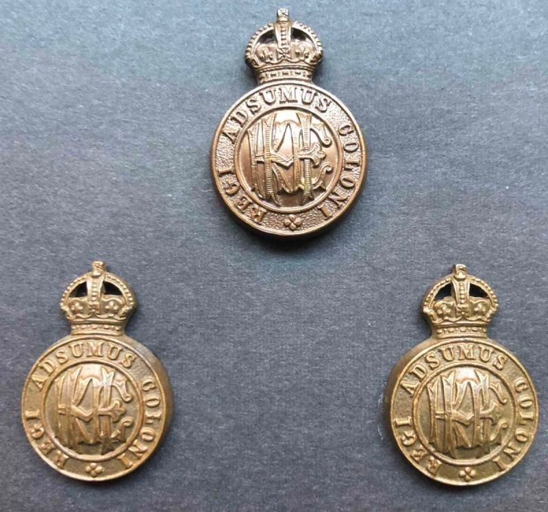 Round Pattern Officer's Headdress and Collar Badges
