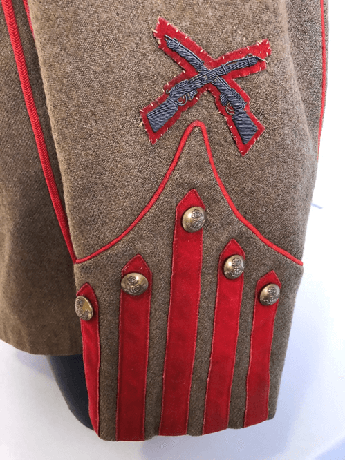 King's Colonials Full Dress Tunic Detail
