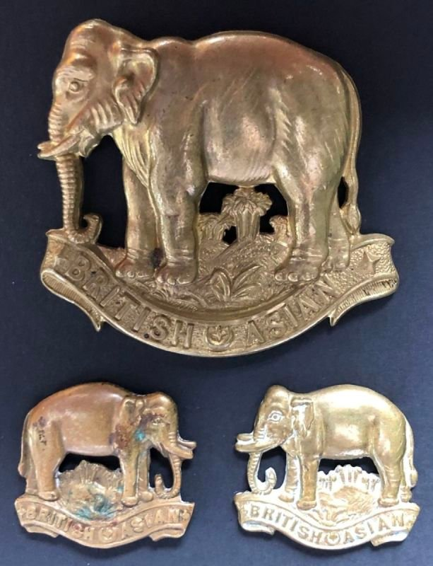 British Asian Squadron Headdress & Collar Badges
