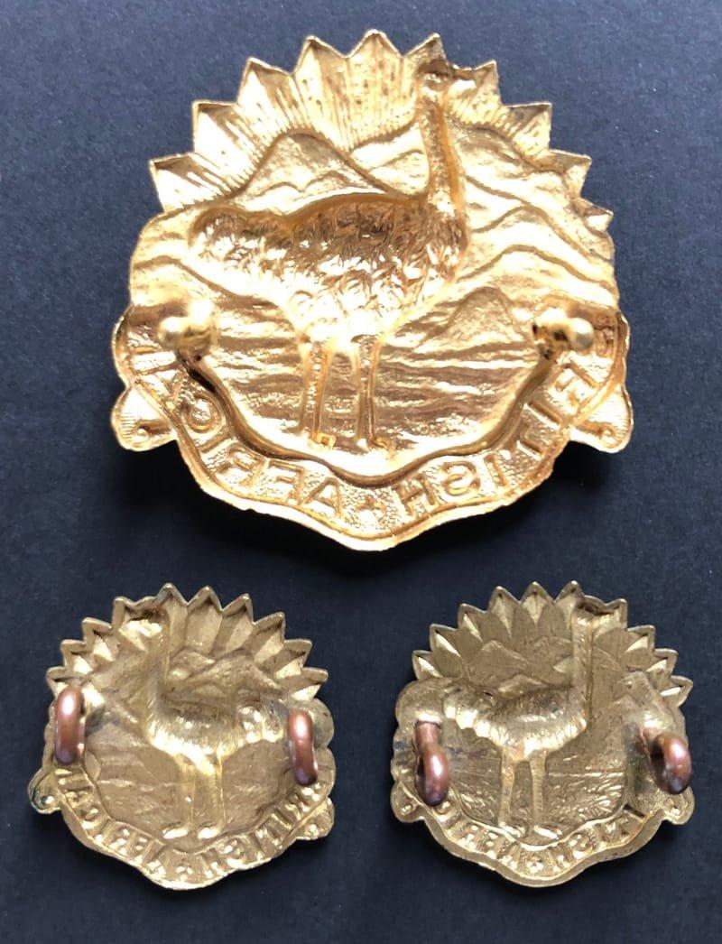 British African Headdress & Collar Badges