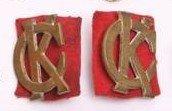 First Pattern Regimental Staff Collar Badge