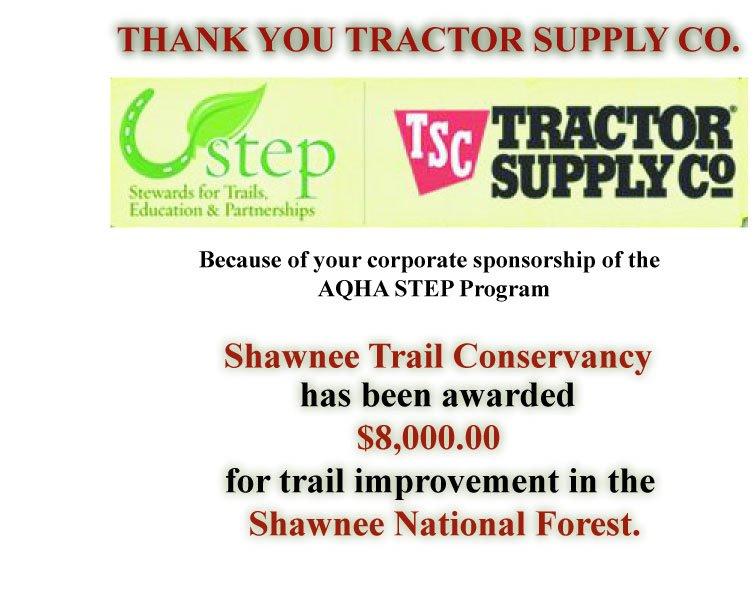 STEP Grant, AQHA & TSC Sponsored