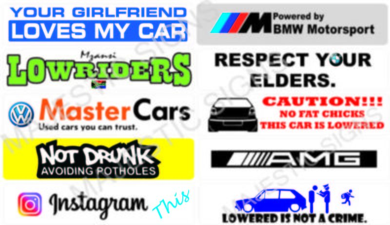 Custom made number plates available here!