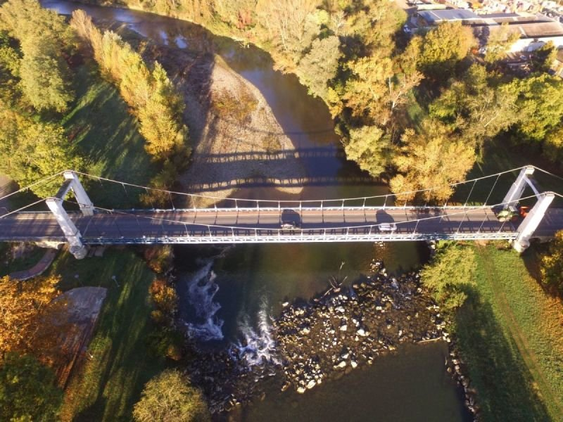 Vue globale pont suspendu