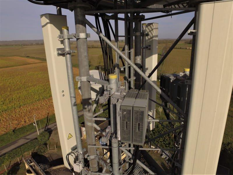 Contrôle des éléments d'un relais téléphonique hauteur 35 mètres (scénario S1).