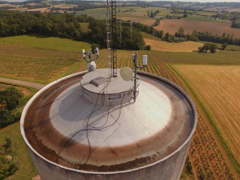 Surveillance de l'état extérieur du réservoir d'un chateau d'eau (scénario S1).