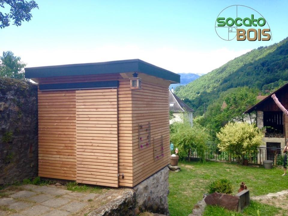 Abris de jardin toiture terrasse EPDM - SOCATO BOIS