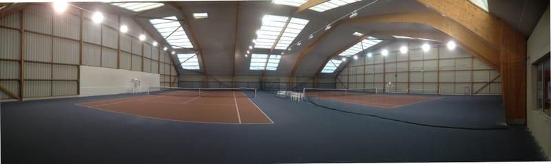 Court de tennis couvert green set rénové