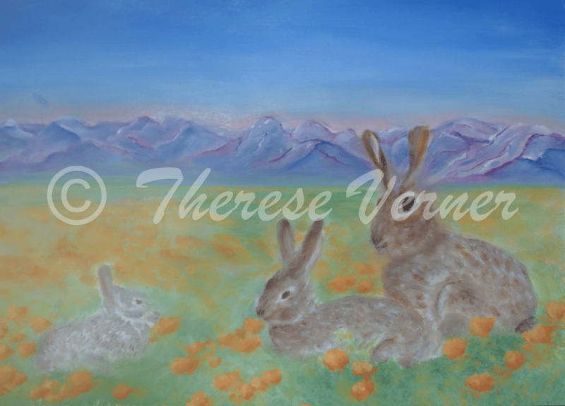 Bunnies in Poppies