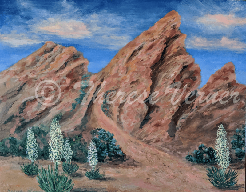 Vasquez Rocks with Yuccas, 2019