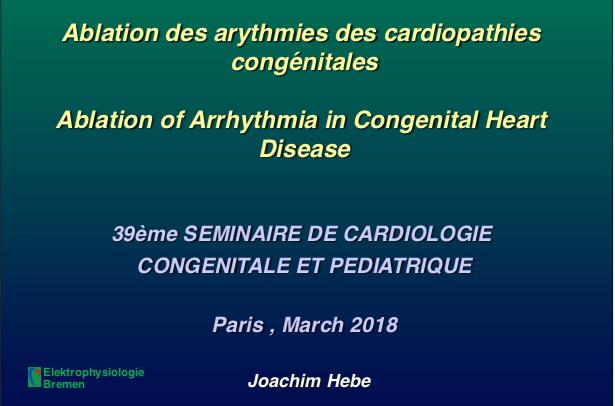 Ablation des arythmies des cardiopathies congénitales