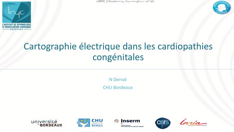 Cartographie électrique dans les cardiopathies congénitales